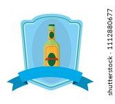 schnapps liquor bottle emblem...   Shutterstock .eps vector #1112880677