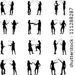 dialog people  vectors work | Shutterstock .eps vector #111288287