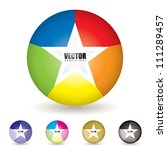 collection of five bright... | Shutterstock .eps vector #111289457