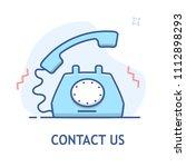 contact us vector line design.... | Shutterstock .eps vector #1112898293