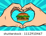 burger  hand gesture heart....   Shutterstock .eps vector #1112910467