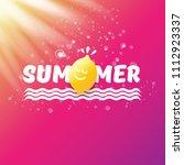 vector creative summer label or ...   Shutterstock .eps vector #1112923337