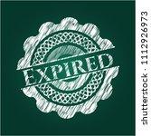 expired on blackboard | Shutterstock .eps vector #1112926973