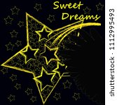 good night and sweet dreams... | Shutterstock .eps vector #1112995493