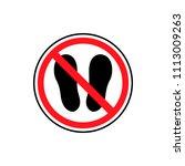 no entry vector icon  people...   Shutterstock .eps vector #1113009263