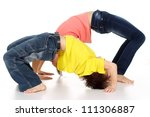 pleasant family having fun in...   Shutterstock . vector #111306887