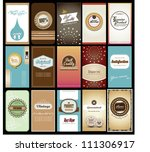 set of creative name card design | Shutterstock .eps vector #111306917