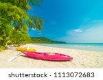 beautiful nature tropical beach ... | Shutterstock . vector #1113072683
