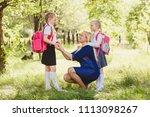 mother prepares children for...   Shutterstock . vector #1113098267