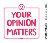 your opinion matters. badge... | Shutterstock .eps vector #1113112403