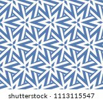 seamless pattern with symmetric ... | Shutterstock .eps vector #1113115547