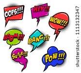 comic speech bubbles burst the...   Shutterstock .eps vector #1113132347