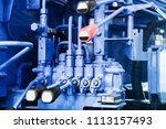 fuel system of the tubes and... | Shutterstock . vector #1113157493