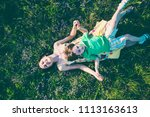 the boy and his mother are...   Shutterstock . vector #1113163613
