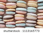 homemade colorful pastel... | Shutterstock . vector #1113165773