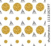 triangles and golden circles ... | Shutterstock .eps vector #1113182597