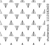 triangles. black and white... | Shutterstock .eps vector #1113182603