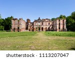 ruins of the baroque palace in... | Shutterstock . vector #1113207047