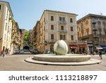 Small photo of La Spezia, Italy - April 28: City center of La Spezia, on April 28 2018 in La Spezia, Italy