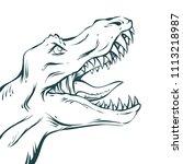 vector illustration in mid... | Shutterstock .eps vector #1113218987