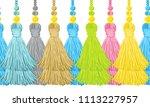vector seamless border pattern. ... | Shutterstock .eps vector #1113227957