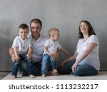family portrait  father mother...   Shutterstock . vector #1113232217