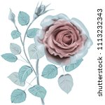 ice roses _ stylized vector... | Shutterstock .eps vector #1113232343