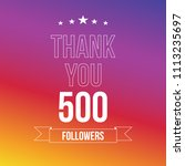 500 followers. vector... | Shutterstock .eps vector #1113235697