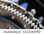 metal gears are engine  gearbox ... | Shutterstock . vector #1113242993
