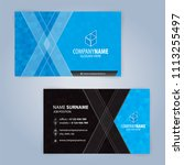 business card template. blue... | Shutterstock .eps vector #1113255497