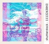 decorative glitch background... | Shutterstock .eps vector #1113263843