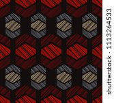 ethnic boho seamless pattern.... | Shutterstock .eps vector #1113264533