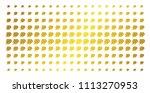 fire deadline clock icon golden ... | Shutterstock .eps vector #1113270953