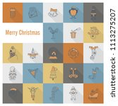 christmas and winter icons... | Shutterstock .eps vector #1113275207