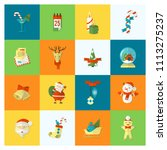 christmas and winter icons... | Shutterstock .eps vector #1113275237