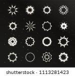 star light  unusual stars shape ...   Shutterstock .eps vector #1113281423