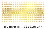 floppy disk icon gold colored... | Shutterstock .eps vector #1113286247