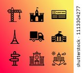 vector icon set about building... | Shutterstock .eps vector #1113304277