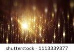 abstract gold bokeh circles on... | Shutterstock . vector #1113339377