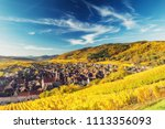 scenic autumn mountain... | Shutterstock . vector #1113356093