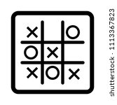 tic tac toe game vector icon. | Shutterstock .eps vector #1113367823