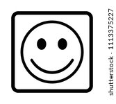 smiley face vector icon. | Shutterstock .eps vector #1113375227