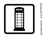 phone booth vector icon. | Shutterstock .eps vector #1113379553