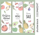 healthy food banner collection. ... | Shutterstock .eps vector #1113460247