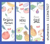 healthy food banner collection. ... | Shutterstock .eps vector #1113467027