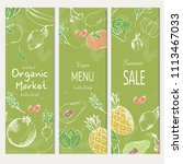 healthy food banner collection. ... | Shutterstock .eps vector #1113467033