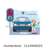 people in the street with a... | Shutterstock .eps vector #1113468323
