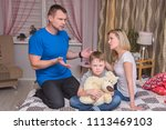 portrait of husband and wife...   Shutterstock . vector #1113469103
