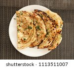 indian naan bread made with... | Shutterstock . vector #1113511007