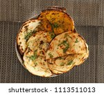 indian naan bread made with... | Shutterstock . vector #1113511013